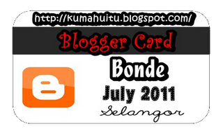 THIS IS BLOGGER CARD BONDE