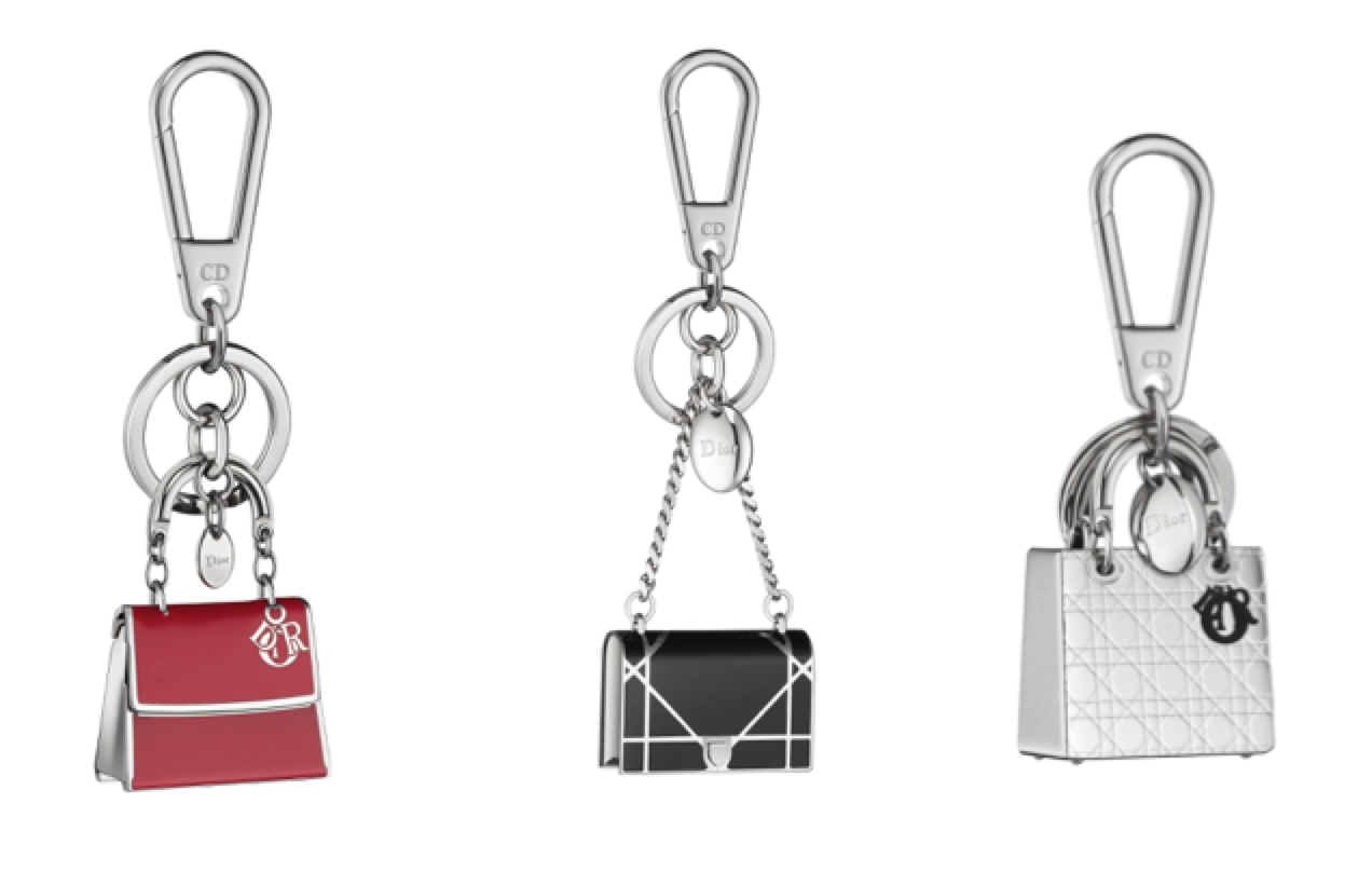 Miniature Dior Bag Keyfobs cum Bag Charms
