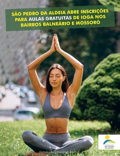 Inscrições para aulas de ioga gratuitas estão abertas em São Pedro da Aldeia
