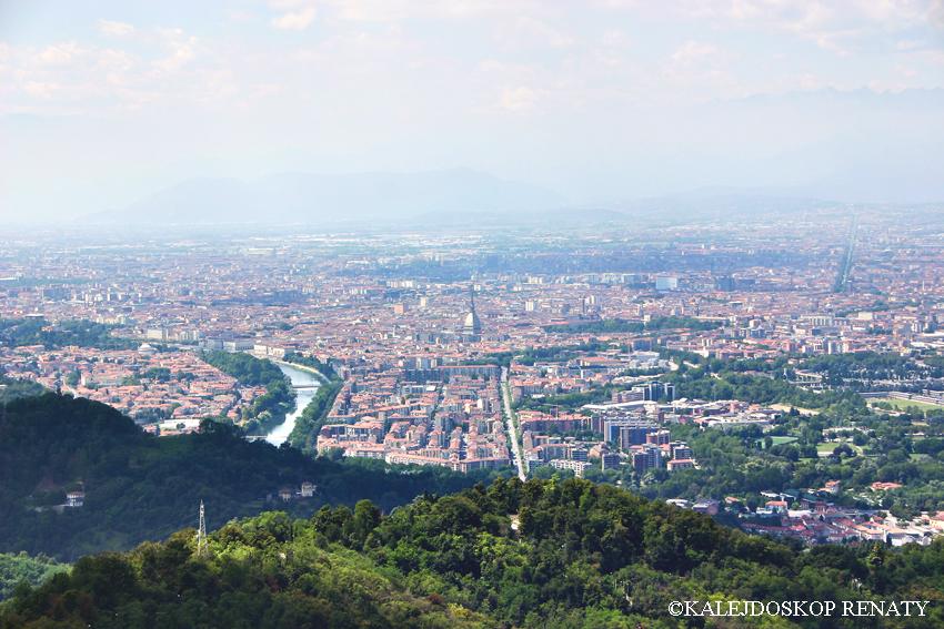 Widok na Turyn z bazyliki de Superga
