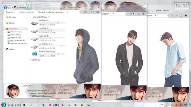 Mengganti Tampilan Windows Menjadi Tampilan Aktor Korea