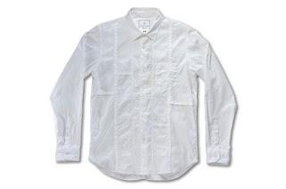 BLACK&BLUE [ パッチワークシャツ ] WHITE
