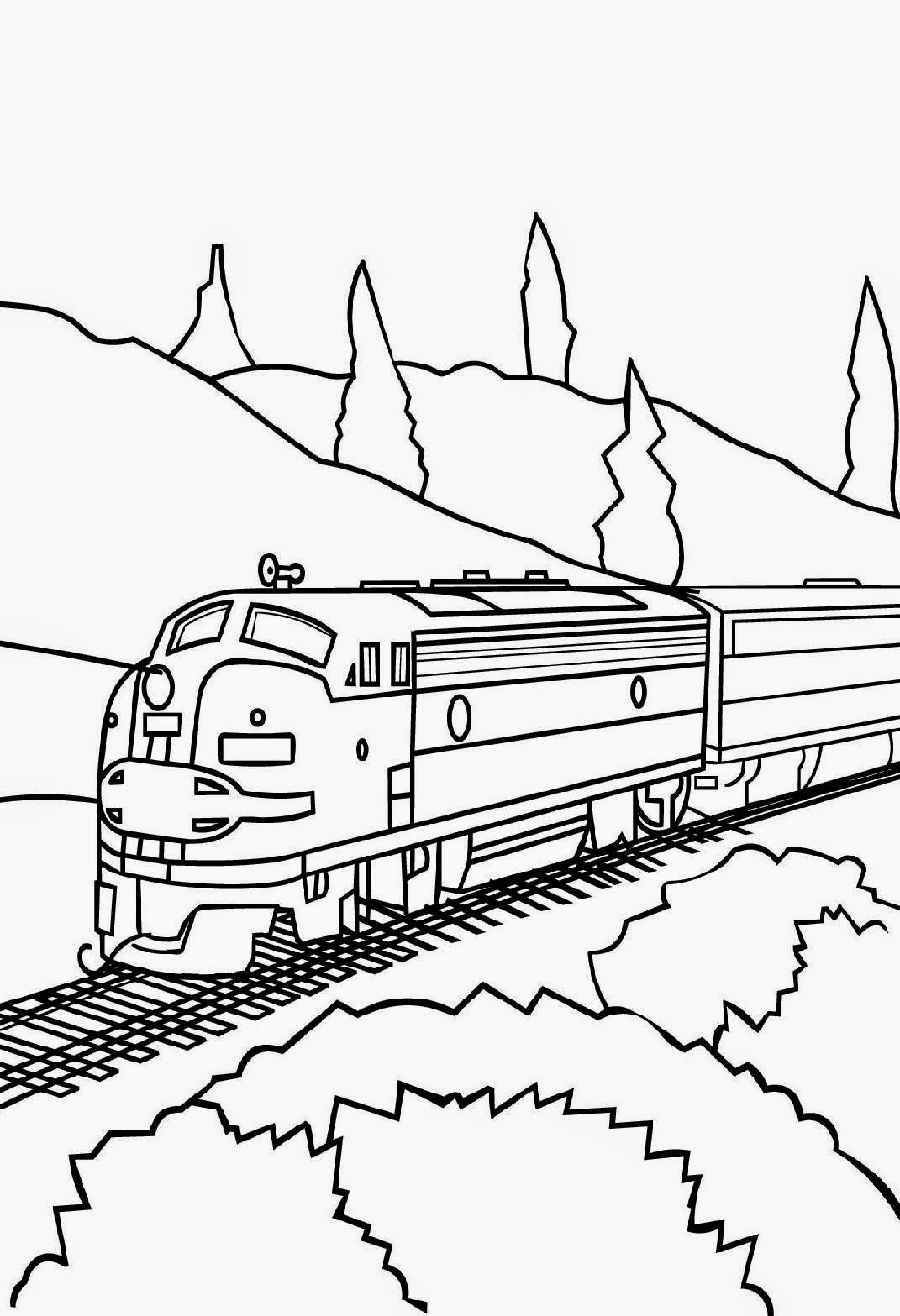 Train Coloring Pages Free Printable   Enjoy Coloring