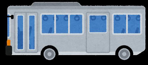 ノンステップバスのイラスト(ドアが閉じた状態)