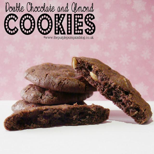 Double Chocolate & Almond Cookies | The Purple Pumpkin Blog