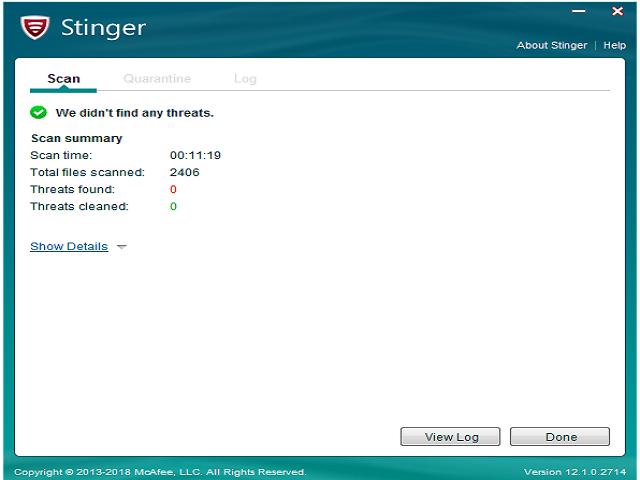 تحميل برنامج الحماية من الفيروسات MACAFee Stringer وبرامج التجسس والبرمجيات الخبيثة