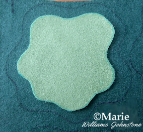 Green felt cut out shapes