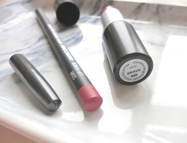 MAC Brave Lipstick and MAC Soar Lip Liner