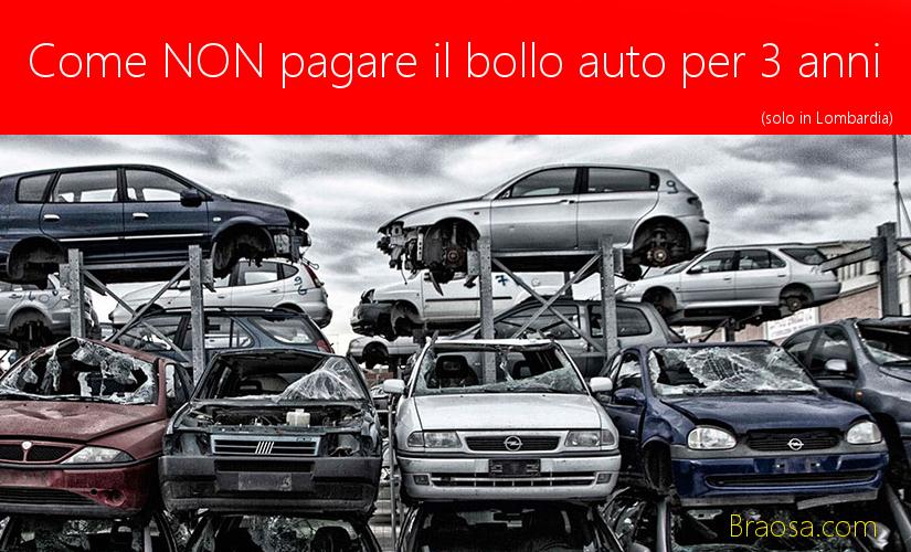 Come avere l'esenzione ala pagamento del bollo auto per 3 anni in Lombardia