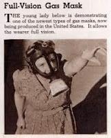 Anuncio de una máscara de gas