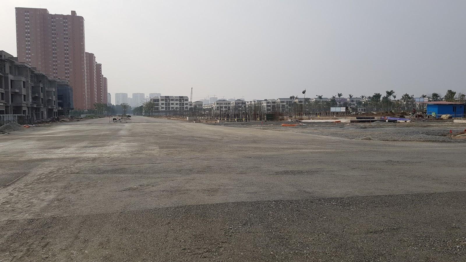 Đường 40m nhìn ra phía khu đô thị Nam Cường