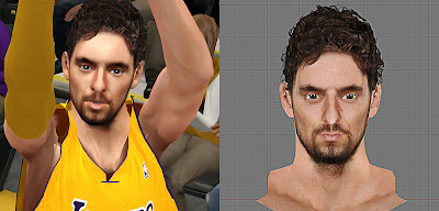 NBA 2K13 Mods Pau Gasol Face Patch