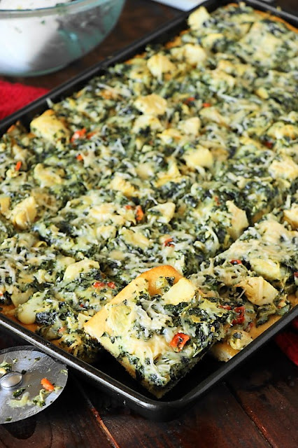 Spinach and Artichoke Dip Party Squares picture