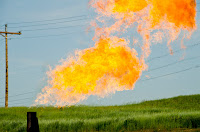 Methane Flaring - Main image: The Environmental Defense Fund estimates that $330 million worth of natural gas is lost to venting and flaring every year. (Credit: Tim Evanson, CC BY-SA 2.0) Click to Enlarge.