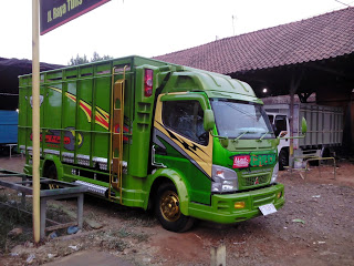 modifikasi dump truck canter