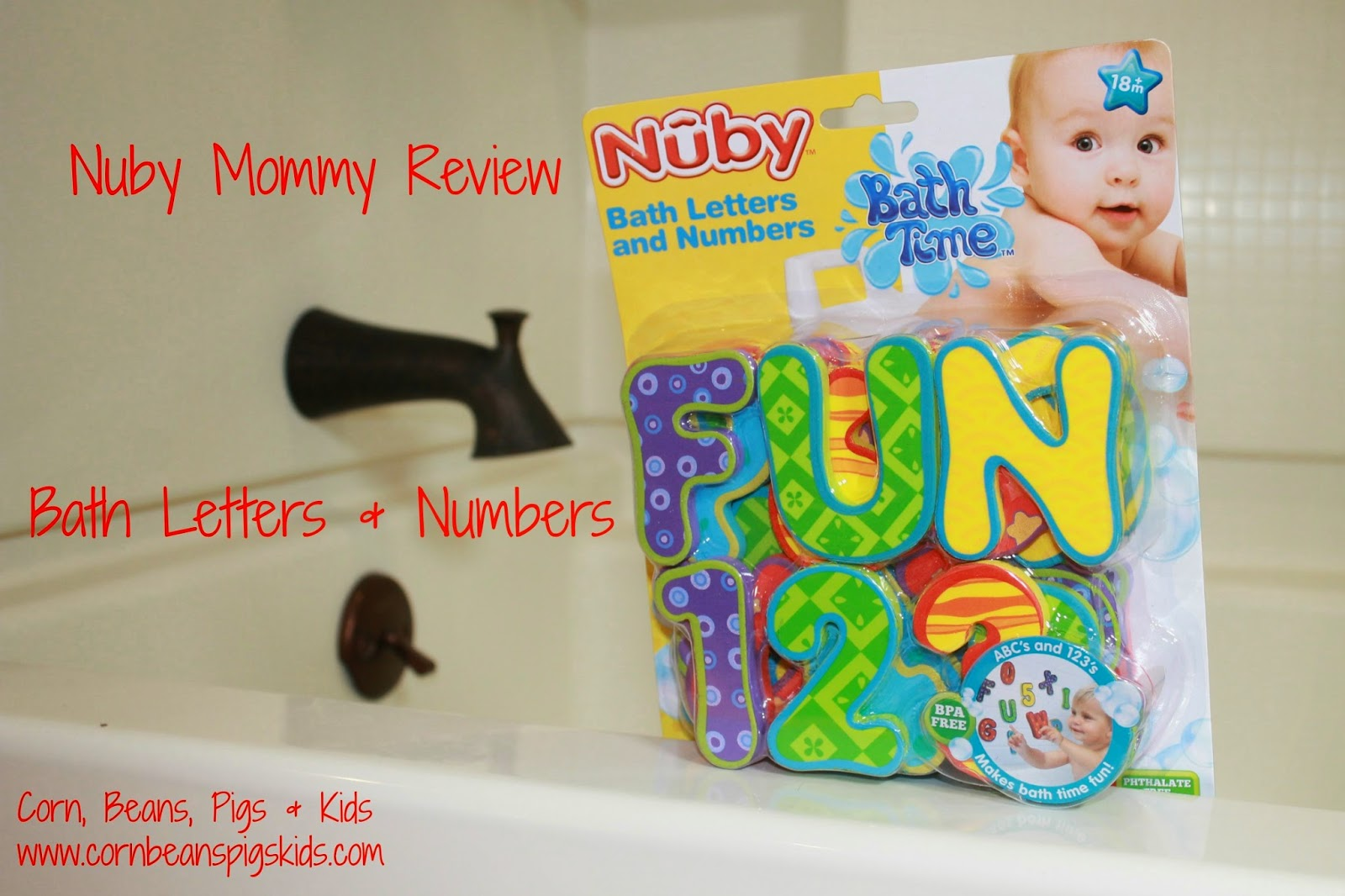 Nuby Mommy Review Bath Letters and Numbers
