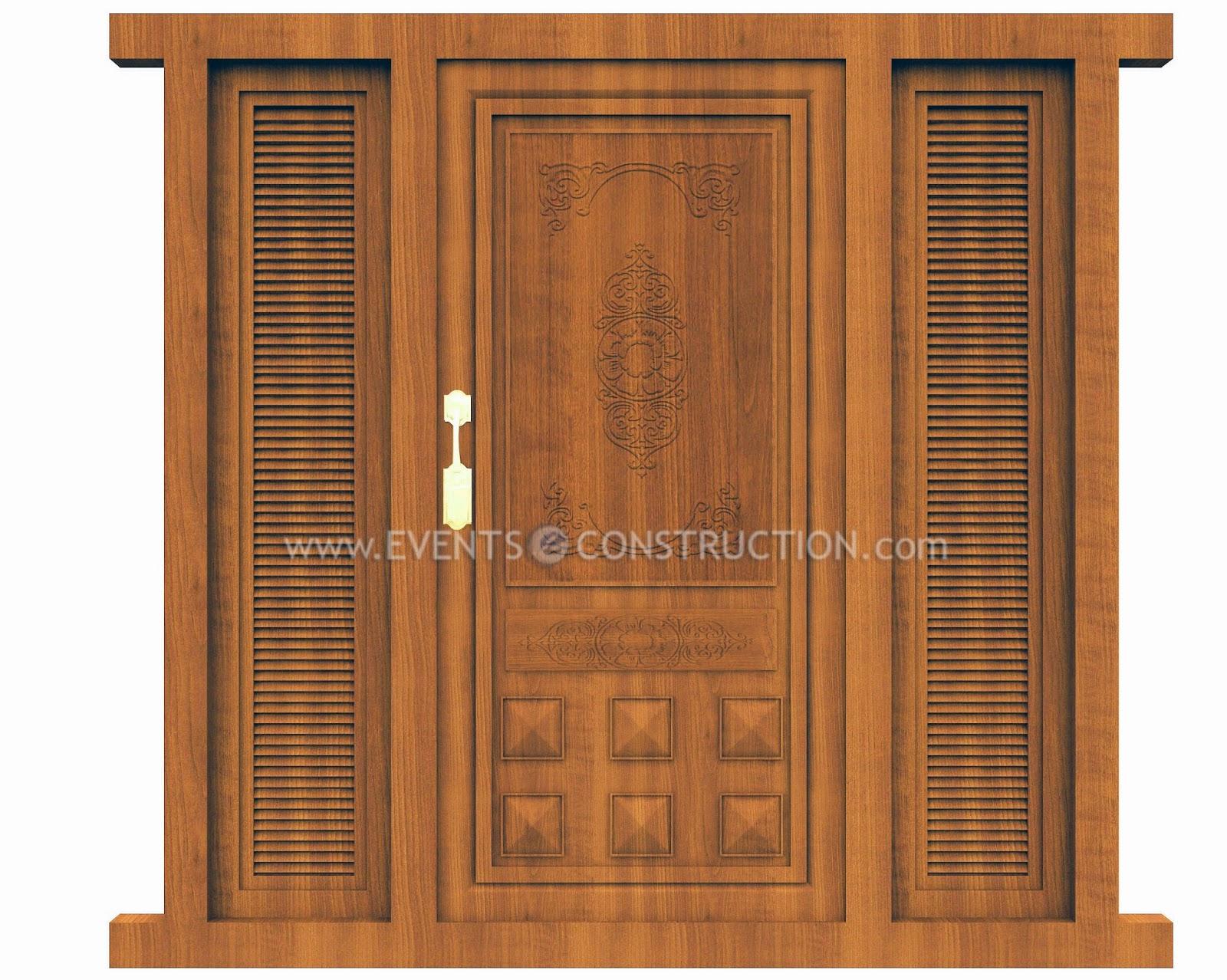 Evens Construction Pvt Ltd: Wooden main door design