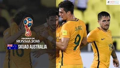 Skuad Susunan Pemain Australia di Piala Dunia 2018