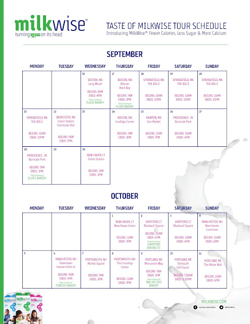 #MilkWise New England Tour Calendar #IC #AD