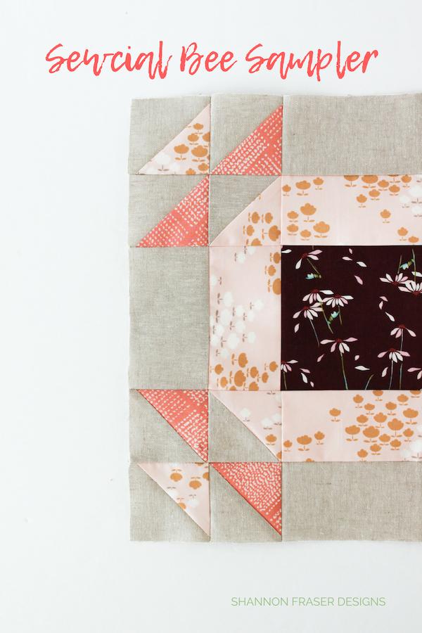 Sewcial Bee Sampler Block | Q4 2018 FAL | Shannon Fraser Designs
