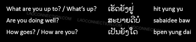 "Lao Language:  Other ways to say ""how are you?"""