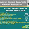 Mengenal Fungsi dan Jenis Memori Komputer