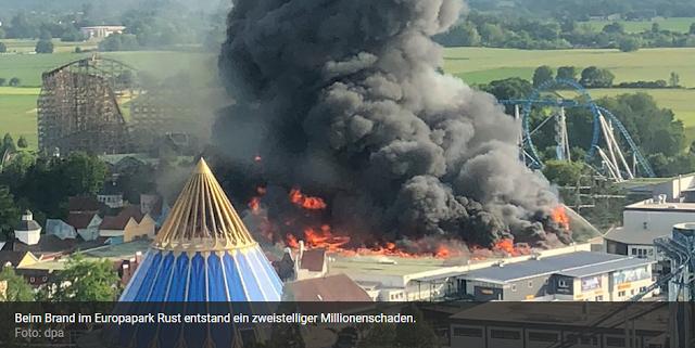 """""""Knapp der Feuerhölle entkommen"""" Kölner erlebte Europapark-Brand und erhebt Vorwürfe"""