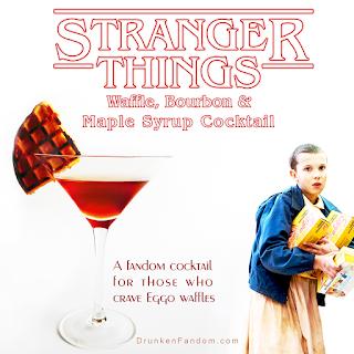 Stranger Things Eggo Waffle Cocktail