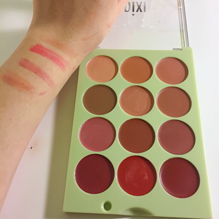 Pixi + itsjudytime ItsLipTime Lip Color Palette swatches