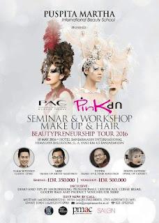 BeautyPreneurship Tour 2016 : Pink Up Puspita Martha Seminar & Workshop di Banjarmasin