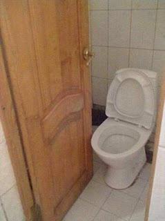 WC, puerta, no cierra