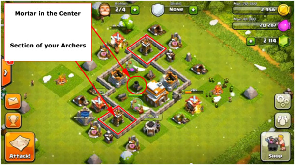 Town hall level 4 clash of clans