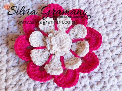 Flor de Crochê - Flor Betina
