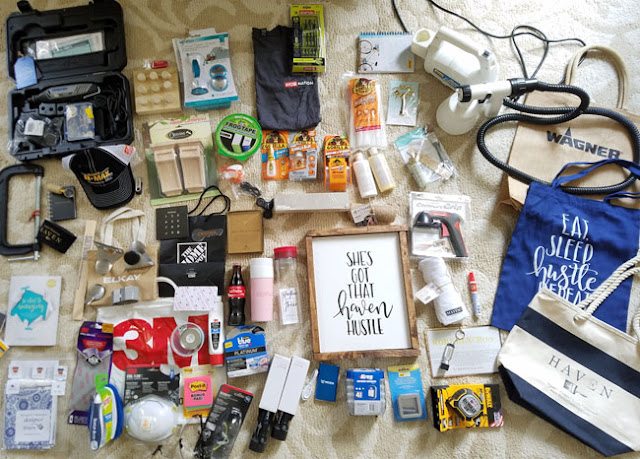 products given to Cristina Garay during Haven 2017