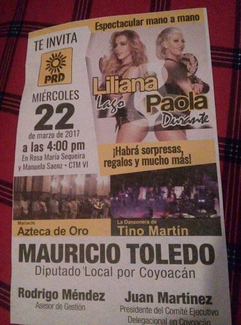La Nacha Plus y Paola Durante dan show erótico en evento de Diputado del PRD.