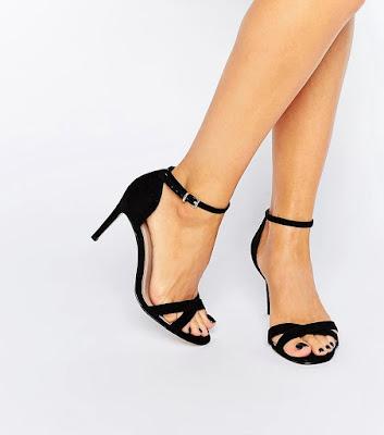zapatos negros para falda