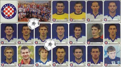 Hajduk Split sličice album Nogomet 2005/06