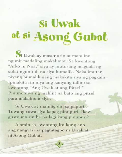 Teacher Fun Files: Si Uwak at si Asong Gubat