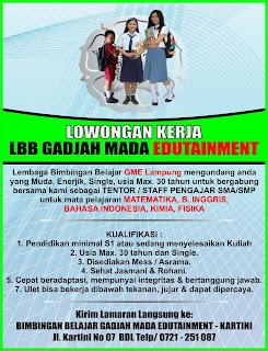 Bursa Lowongan Kerja Tenaga Pengajar Lampung