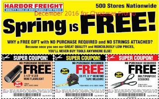 Harbor Freight coupons december 2016