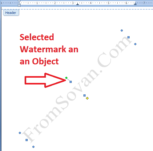 Selected watermark as an object