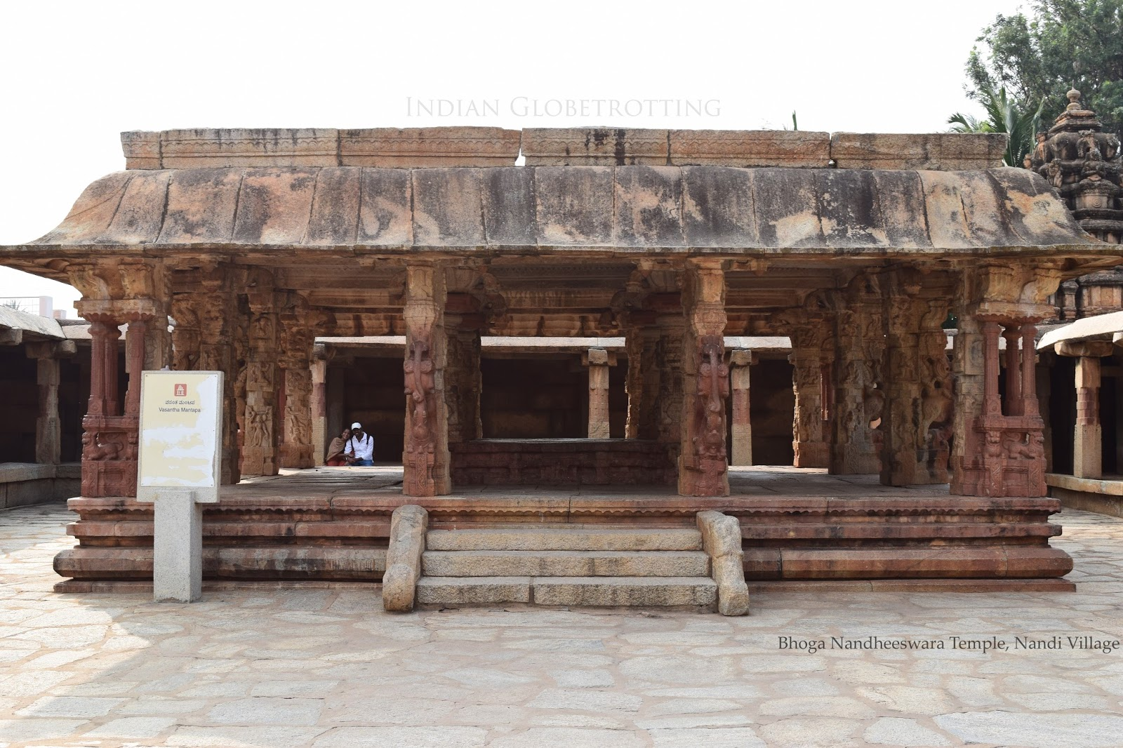 Vasanth Mantapa in Bhoga Nandheeswara Temple in Nandi Village Karnataka