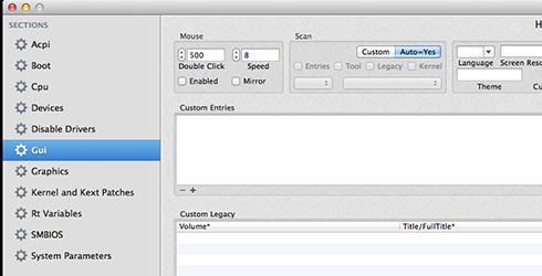 sửa file config.plist để có mục clover boot option