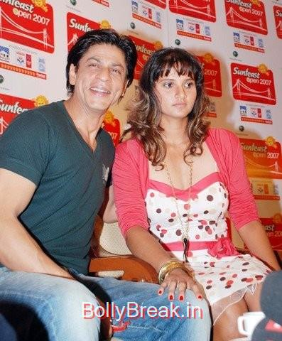 An old pic of the tennis star with Shah Rukh Khan,  7 Rare Unseen Pictures of Sania Mirza