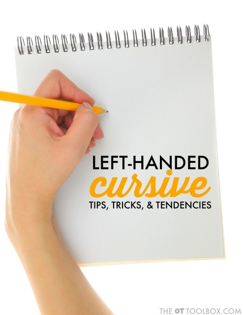 These cursive handwriting strategies will help students who write left-handed to learn cursive writing, including left handed pencil grasp, positioning, slant, and cursive letter formation.
