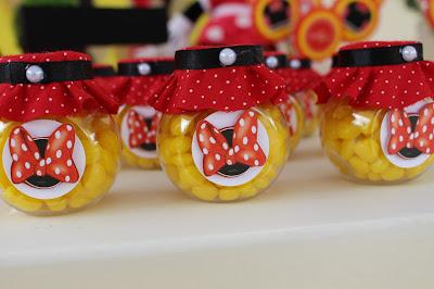 Potinhos festa de aniversário tema minnie vermelha