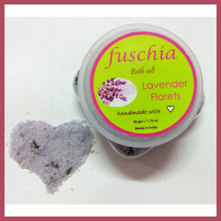 Review: Fushia by Vkare BATH SALT in Lavender Florets & Swatches