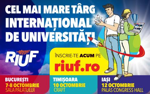 RIUF YouForum, Cel mai mare targ international de Universitati va avea loc la Timisoara