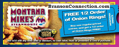 Ready to start saving money on your Branson vacation? Our coupons are conveniently divided into four categories: Activities, Dining Shopping, and Entertainment. Download each section below or select ALL COUPONS above to print them all.