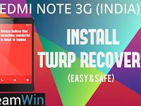 Cara Mudah Memasang TWRP Xiaomi Redmi Note 3G Tanpa PC